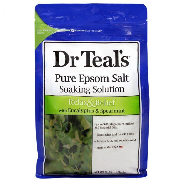 Muối Epsom Dr Teal's Bạch Đàn & Bạc Hà 3lbs (1.36kg)